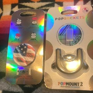 New In Package Pop Socket And Mount
